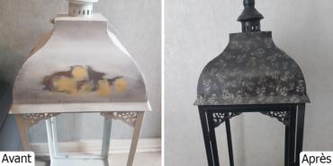 Suppression dentelle correction defaut pour personnalisation lanterne finition vernis mat